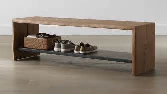 Yukon Entryway Bench with Shelf   Crate and Barrel