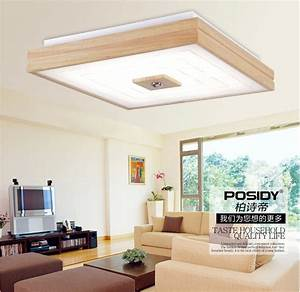New square design simple modern wood led ceiling