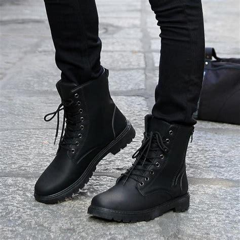 Free Shipping Retro Combat Boots Men Fashion Winter