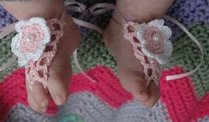 1000+ images about Free Baby Barefoot Sandal Crochet ...