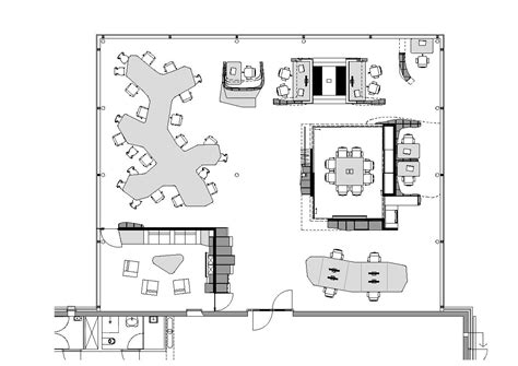 Drawn Office Blueprint  Pencil And In Color Drawn Office