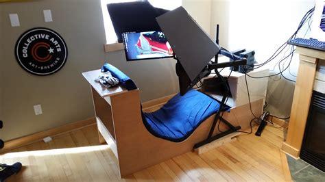 style wood hybrid sim racing rigs cockpit