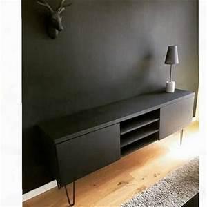 Meuble Tv Noir Ikea : fait maison meubles and fils on pinterest ~ Teatrodelosmanantiales.com Idées de Décoration