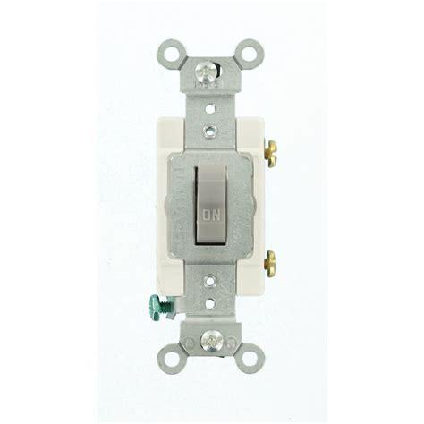 single pole switch leviton 15 amp single pole toggle switch light almond r56 01451 02t the home depot