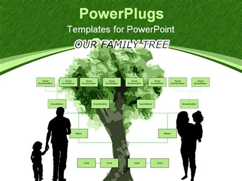 Powerpoint Genealogy Template by Blank Family Tree