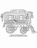Caravan Coloring Gypsy Wagon Children Corner Childrensbooks Kidsactivities Childrencoloring Reading sketch template