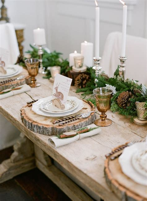 Elegant + Rustic Winter Wedding Inspiration Christmas