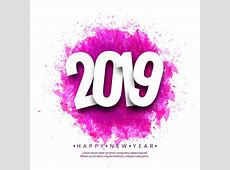 Beautiful Happy New Year 2019 text background Download