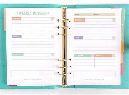 Planner Printable Inspired Weekly Pages Pretty Instagram