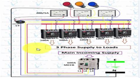 Panel Wiring Diagram by 3 Phase Panel Board Wiring Diagram In Urdu