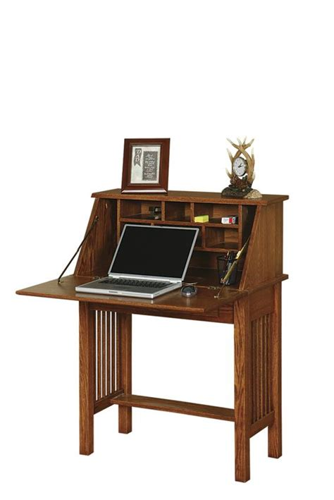 Furniture-Office-Furniture-Solid-Wood-American-Mission-Secretary-Desk