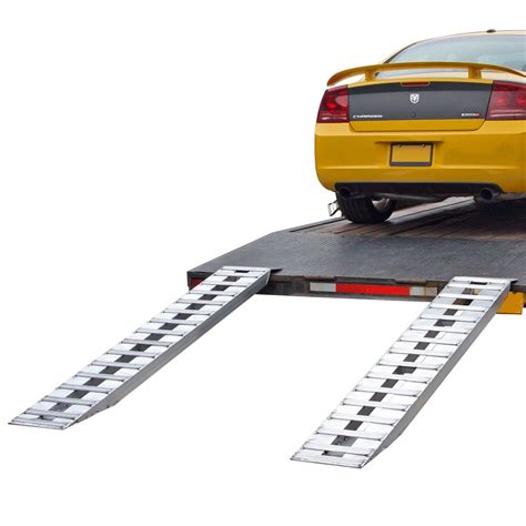 Aluminum Plate End Car Trailer Ramps