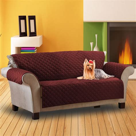 luxury quilted pet sofa cover water resistant chair protector furniture throw ebay