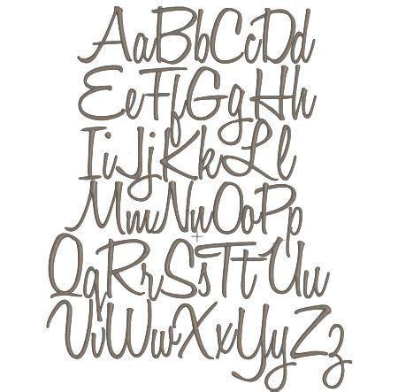 classic script cursive handwriting style embroidery font monogram  instant