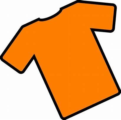Shirt Clip Clipart Orange Cartoon Angled Cliparts