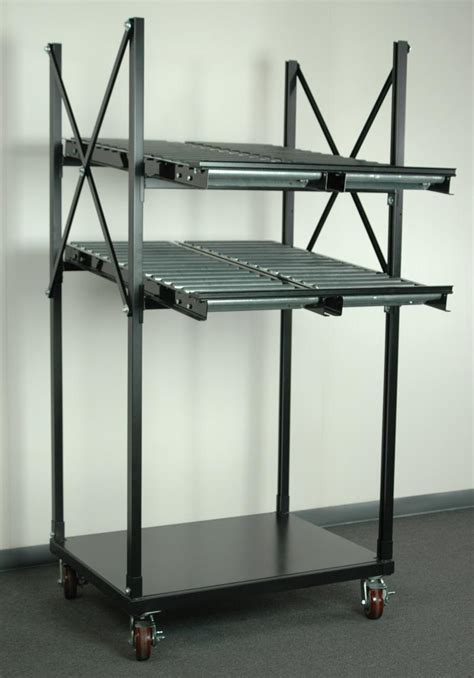 stackbin shelving carts  level flow rack