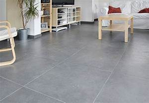 carrelage gris brillant With carrelage grand carreaux