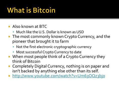 What Is Bitcoin Currency by Ppt Crypto Currency Bitcoin Powerpoint Presentation Id