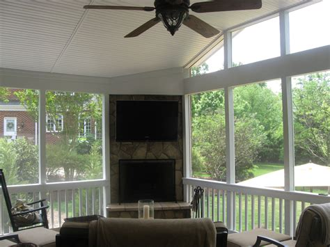 screened porch with fireplace archadeck of decks screen porches sun rooms