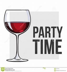 Red Wine Glass, Vector Illustration For Poster, Banner ...