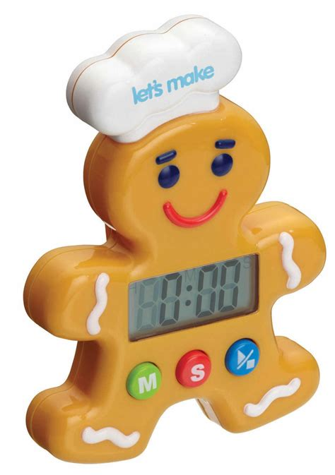 timer kitchen craft gingerbread digital timers jengibre pepparkaksgubbe kitchencraft reloj cocina hombrecito childrens lyckasmedmat