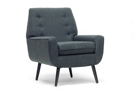 levison gray linen modern accent chair affordable modern
