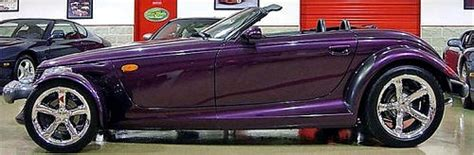 chrysler plymouth prowler  pictures  purple prowler