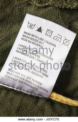 Care Washing Symbols And Instructions On Label In Marks