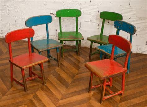 chaise écolier chaises vintage enfants écoliers rétro ées 40 50