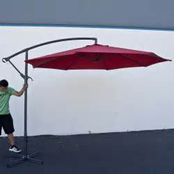 10ft deluxe outdoor patio umbrella hanging offset crank