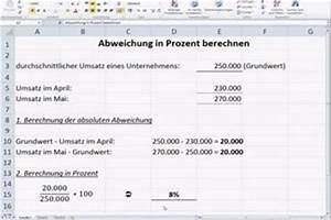 Steigerung Berechnen : video abweichung in prozent berechnen so gehen sie vor ~ Themetempest.com Abrechnung