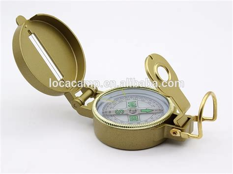 zinc alloy  army compass lensatic military sighting