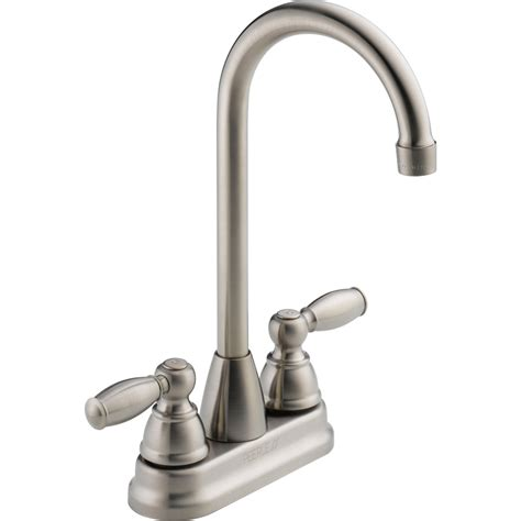 restaurant kitchen faucets shop peerless stainless 2 handle bar and prep faucet at