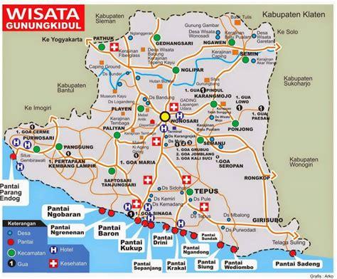 peta wisata lengkap  gunungkidul terbaru  hits