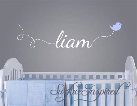 custom  wall decal liam   flying bird surface inspired home decor wall decals
