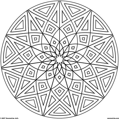 kaleidoscope coloring pages geometripcom