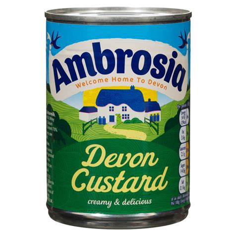 holiday stationery b m ambrosia devon custard 400g 108868 b m