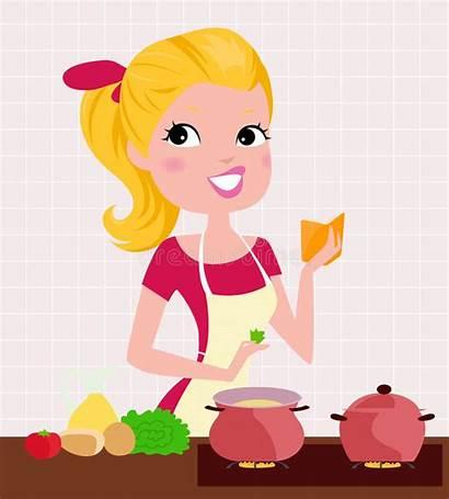 Lady Cooking Koken Dame Signora Het Della