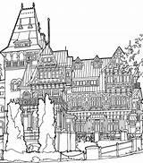 Mansion Coloring Pages раскраски все категории из sketch template