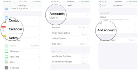 how to add calendar to iphone how to set up mail contacts and calendars on iphone and