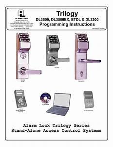 Alarm Lock Trilogy Dl3500 Programming Instructions