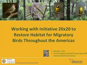 Working with initiative 20×20 to restore habitat for ...