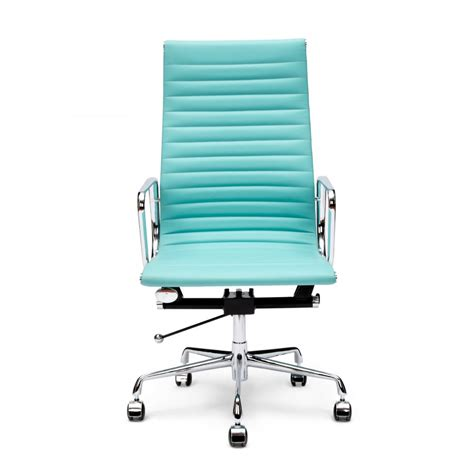 office and desk chairs charles eames style turquoise ribbed office chair