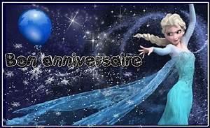 Joyeux Anniversaire Reine Des Neiges : joyeux anniversaire reine des neiges avec ballon et flocons ~ Melissatoandfro.com Idées de Décoration