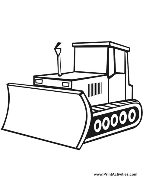 Almost all pictures are original drawings. Bulldozer Coloring Page. (mit Bildern) | Malvorlagen ...