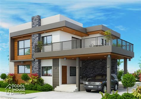 Four Bedrooms Two Storey Modern House Four bedroom house