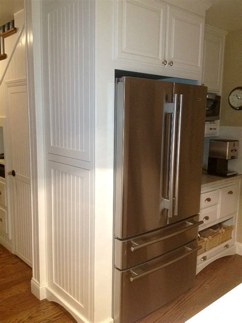kitchen cabinets refrigerator surround martha s renovated kitchen in california hooked on houses 6353