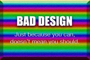 using color in design the right way onlineimage - Bad Design 2015