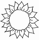 Sunflower Drawing Coloring Clipart Pages Line Preschoolers Flower Clip Head Template Cliparts Library Colouring Drawings Pattern Sunflowers Traceable Easy Stencil sketch template