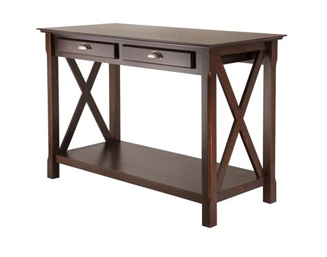 how to a console table winsome xola console table with 2 drawers by oj commerce